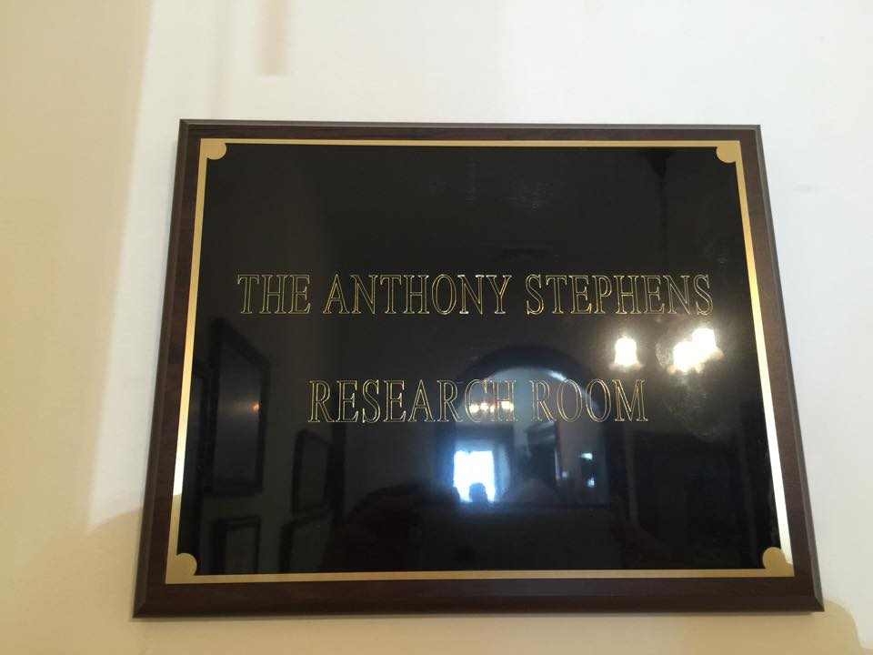 Anthony Stephens Research Room Dedication