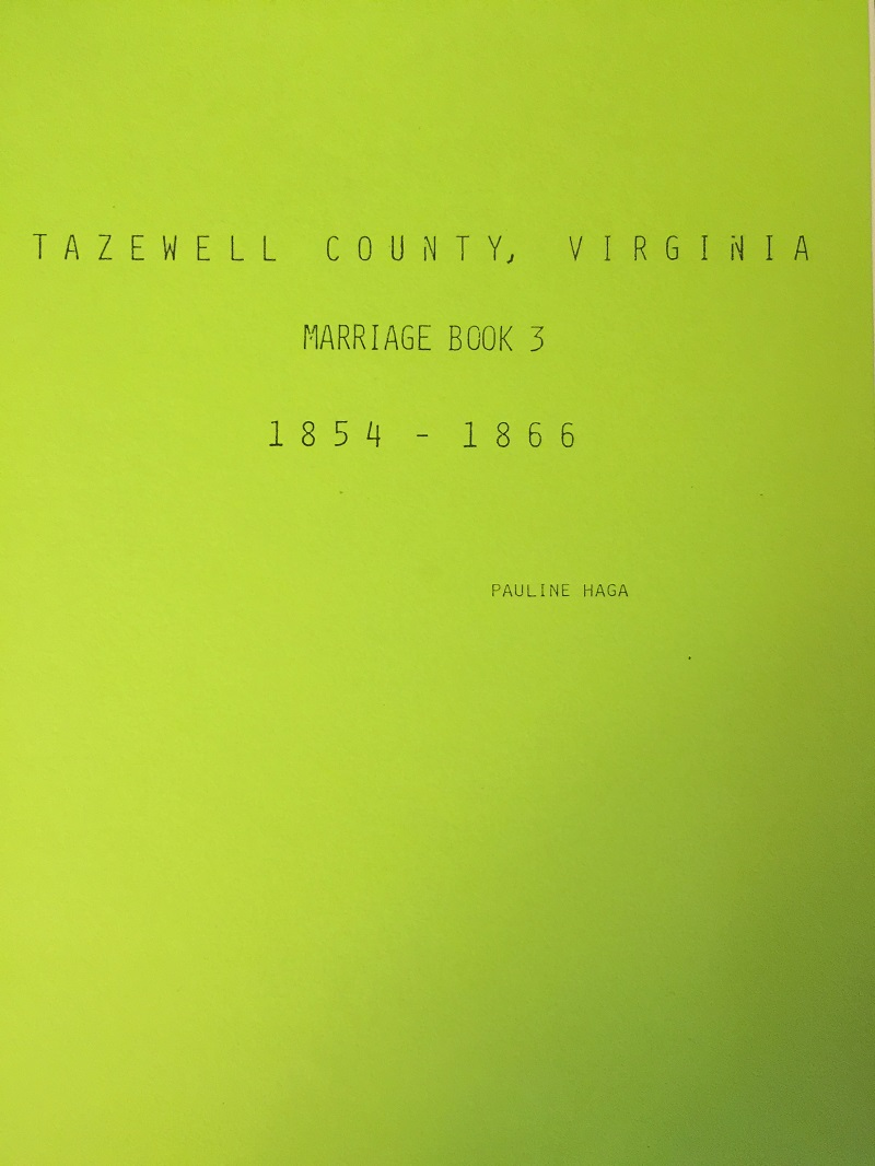Tazewell county marriage license records